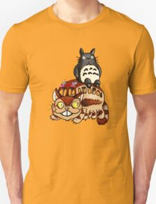 Catbus and Totoro - A Fun Ride T-Shirt