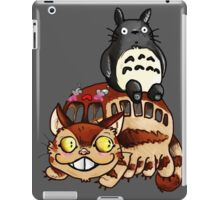 Catbus and Totoro - A Fun Ride iPad Case/Skin