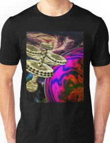 Space Station Graphic T-shirt design Unisex T-Shirt