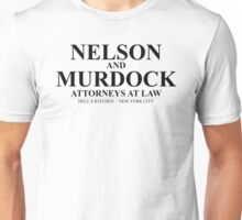 Nelson and Murdock Attorneys at Law  Unisex T-Shirt