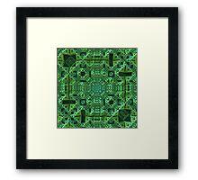 Intricately, Green Framed Print