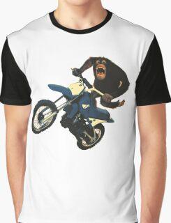 Monkey on a Dirt Bike Graphic T-Shirt