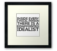 George Carlin Quote Smart Cynical Framed Print