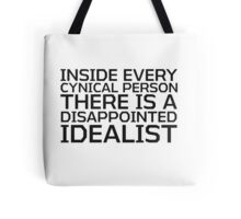 George Carlin Quote Smart Cynical Tote Bag