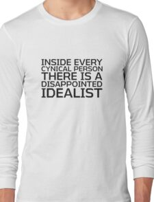 George Carlin Quote Smart Cynical Long Sleeve T-Shirt