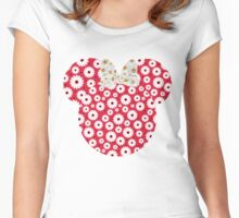 Minnie Daisies Women's Fitted Scoop T-Shirt