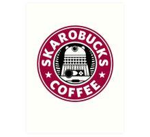 Skaro Coffee red Art Print