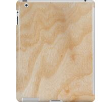 Unique rotary birch yellow wood design iPad Case/Skin