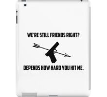 Clintasha CW quote iPad Case/Skin