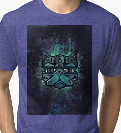 face of cat Tri-blend T-Shirt