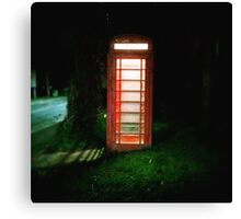 The old phone box Canvas Print