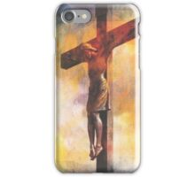 Our Savior On The Cross iPhone Case/Skin