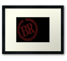 Battle Royale Survival Program (Symbols) Framed Print