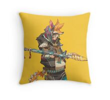 Fury Beats - Lily Slash Yellow Throw Pillow