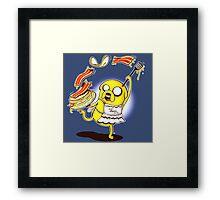 Jake Adventure Time Bacon Framed Print