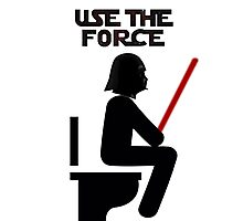 Use the Force - constipated Photographic Print