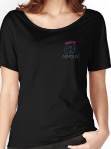 Retro Vintage Neon Night in Armour Women's Relaxed Fit T-Shirt