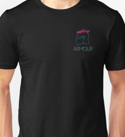 Retro Vintage Neon Night in Armour Unisex T-Shirt