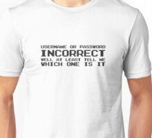 Password Computer Humour Joke IT Tech Geek Nerd Internet Unisex T-Shirt