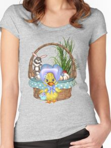 Easter Chicken  Women's Fitted Scoop T-Shirt
