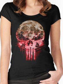 Punish Skull Women's Fitted Scoop T-Shirt
