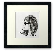 Girl with sunglasses Framed Print