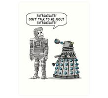 Dalek Adams 2 Art Print