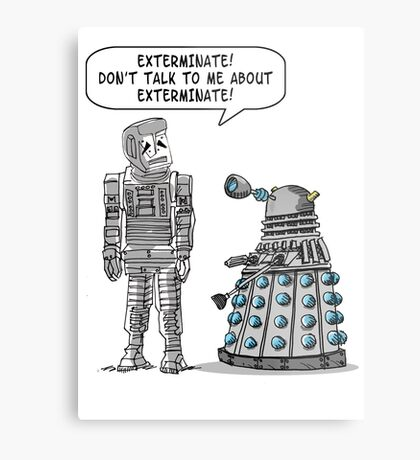 Dalek Adams 2 Metal Print