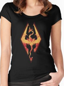 Skyrim Fire Women's Fitted Scoop T-Shirt