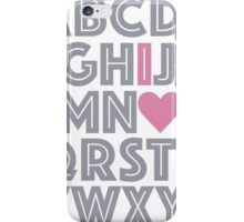 ABC Baby Nursery Room Decor - PINK & GREY GRAY iPhone Case/Skin