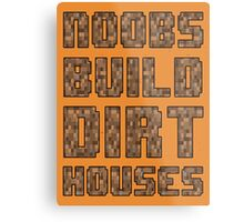 Mine craft noobs Metal Print