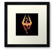 Skyrim Fire Framed Print