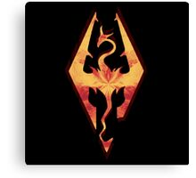 Skyrim Fire Canvas Print