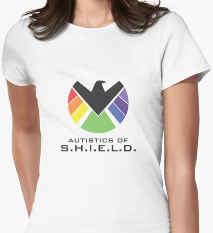 Autistics of S.H.I.E.L.D. (for light backgrounds) Womens Fitted T-Shirt