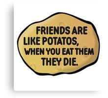 Funny Random Humour Joke Comedy Weird Canvas Print
