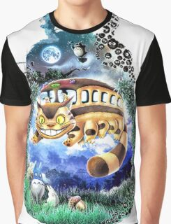 Totoro Space Graphic T-Shirt
