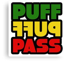 Weed Stoner Puff Puff Pass Pot Funny Cool Rasta Jamaica Canvas Print