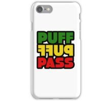 Weed Stoner Puff Puff Pass Pot Funny Cool Rasta Jamaica iPhone Case/Skin