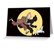 tintin Greeting Card