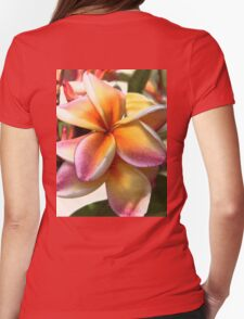 Bright pinks and golds Womens Fitted T-Shirt