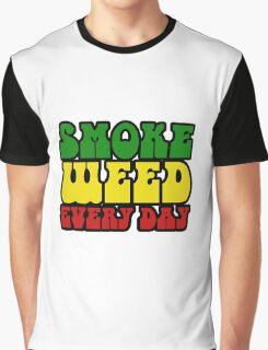 Smoke Weed Every Day Stoner Stoned Pot Marijuana  Graphic T-Shirt