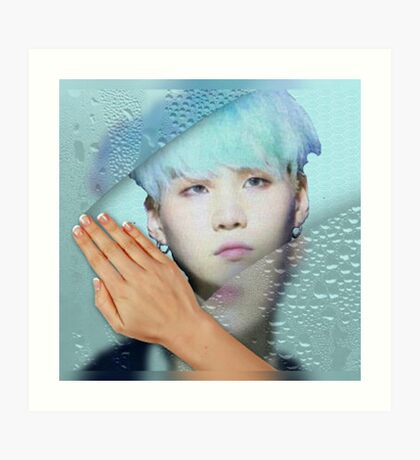 Suga - turquoise phone cases and more Art Print