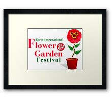 Epcot Flower and Garden Festival Planted Mickey Framed Print