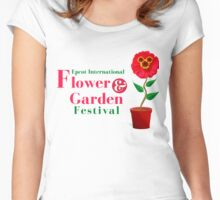 Epcot Flower and Garden Festival Planted Mickey Women's Fitted Scoop T-Shirt