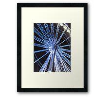 Round the wheel Framed Print