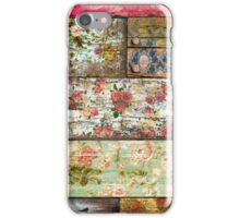 Floral wood iPhone Case/Skin
