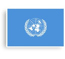 Flag of the United Nations, FLAG OF THE UN, PURE AND SIMPLE Canvas Print