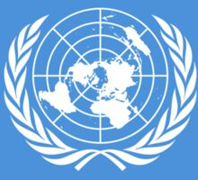 Flag of the United Nations, FLAG OF THE UN, PURE AND SIMPLE Sticker