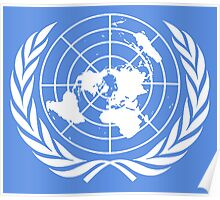 UNITED NATIONS, EMBLEM of the United Nations, EMBLEM OF THE UN, PURE AND SIMPLE Poster