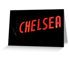 Neon sign, Hotel Chelsea, New York Greeting Card